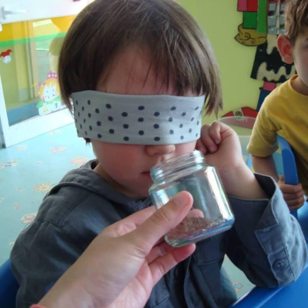 desenvolvimento dos sentidos colégio Ti-Té